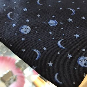 Yves Saint Laurent Accessories - Yves Saint Laurent Moons & Stars Astronomy Tie